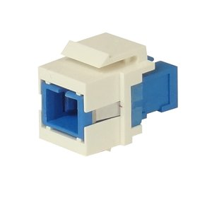 SC/APC to SC/APC Simplex FO singlemode coupler - keystone