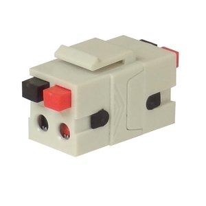 Speaker & HomeControl Terminal - red + black - keystone