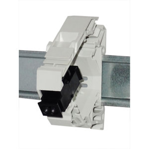 POF to POF Duplex coupler - DIN-rail keystone