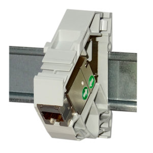 Shielded RJ45 1000MHz DIN-rail keystone