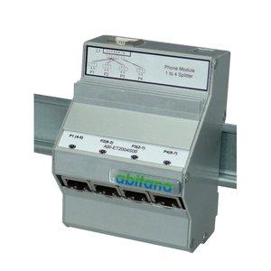 splitter/combiner module, DIN rail mount