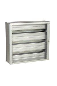 Aluminium enclosure with transparant door