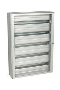 Xcel pro+ Aluminium cabinet with transparant door - 5 DIN-rails - 155 positions (ABI-HE3060S05)