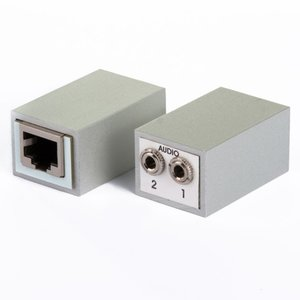 Audio Adapter RJ45 to 2x 3,5mm stereo jack