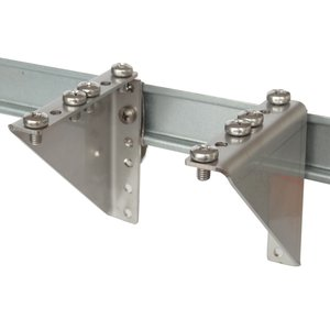 DIN-rail 2HU brackets with clip