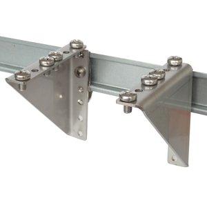 DIN-rail 2HU brackets with clip