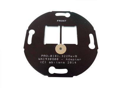 Double wall outlet mounting plate